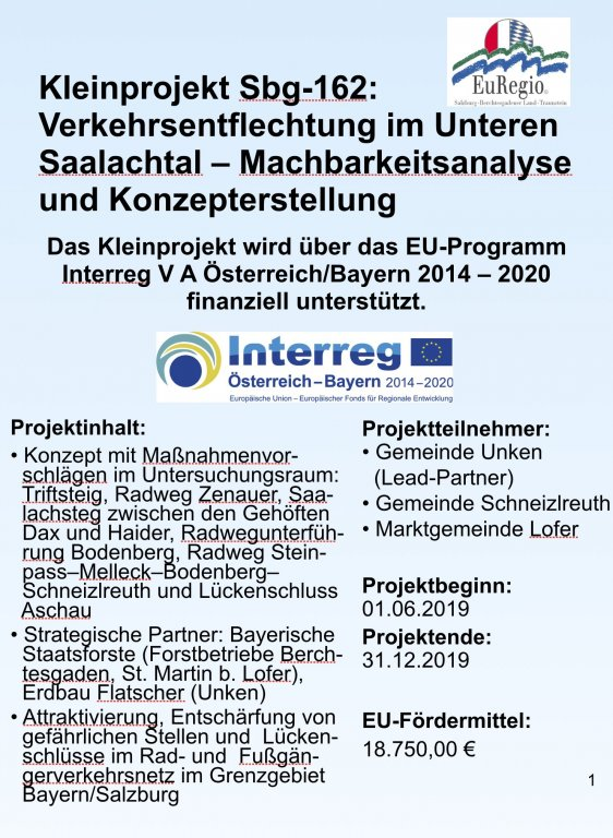 Plakat Interreg Kleinprojekt Sbg-162